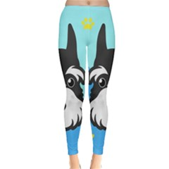 Face Dog Classic Winter Leggings by AnjaniArt