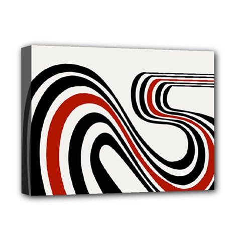 Curving, White Background Deluxe Canvas 16  X 12