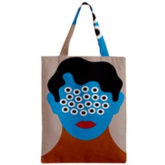 Face Eye Human Zipper Classic Tote Bag by AnjaniArt
