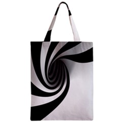 Hole Black White Zipper Classic Tote Bag by AnjaniArt
