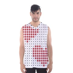 Heart Love Valentine Day Pink Men s Basketball Tank Top by AnjaniArt