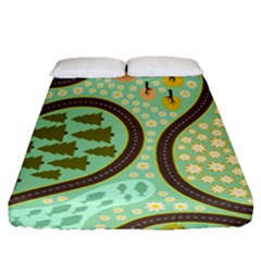 Hilly Roads Fitted Sheet (queen Size)