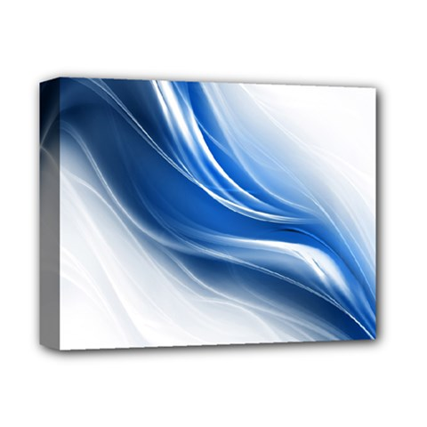 Light Waves Blue Deluxe Canvas 14  X 11  by AnjaniArt