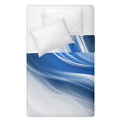 Light Waves Blue Duvet Cover Double Side (single Size) by AnjaniArt