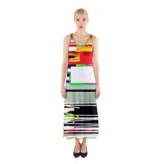 Lines And Squares  Sleeveless Maxi Dress by Valentinaart
