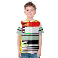 Lines And Squares  Kids  Cotton Tee