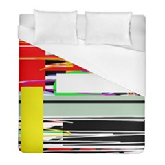 Lines And Squares  Duvet Cover (full/ Double Size)