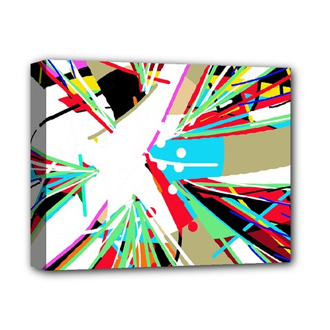 Colorful Big Bang Deluxe Canvas 14  X 11  by Valentinaart