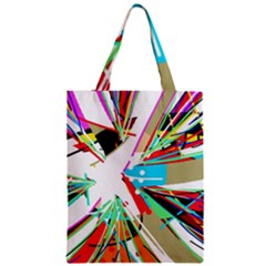 Colorful Big Bang Zipper Classic Tote Bag by Valentinaart
