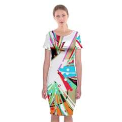 Colorful Big Bang Classic Short Sleeve Midi Dress by Valentinaart