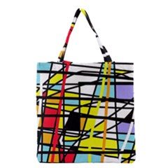 Casual Abstraction Grocery Tote Bag by Valentinaart