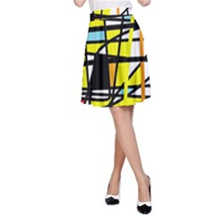 Casual Abstraction A Line Skirt by Valentinaart