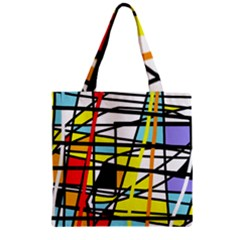Casual Abstraction Zipper Grocery Tote Bag by Valentinaart