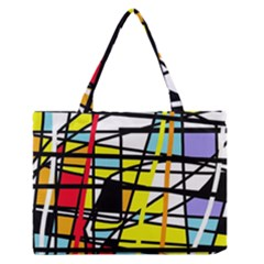 Casual Abstraction Medium Zipper Tote Bag by Valentinaart