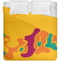 Colorful Creativity Duvet Cover Double Side (king Size) by Valentinaart
