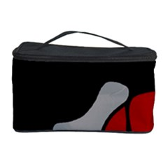 Red Creativity 2 Cosmetic Storage Case by Valentinaart