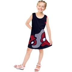 Red Creativity 2 Kids  Tunic Dress by Valentinaart