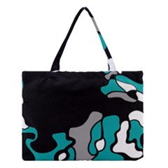 Cyan Creativity 2 Medium Tote Bag by Valentinaart