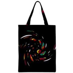 Colorful Twist Zipper Classic Tote Bag by Valentinaart