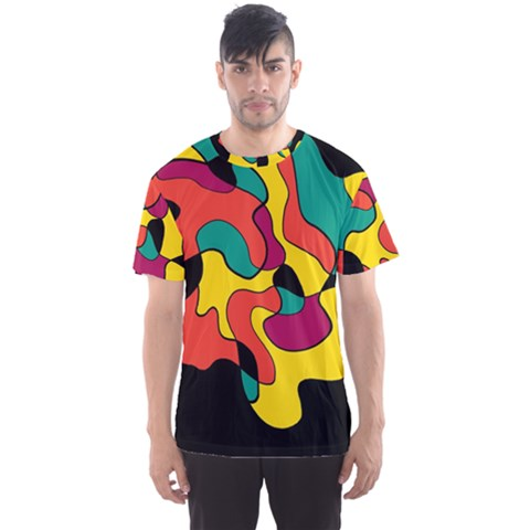 Colorful Spot Men s Sport Mesh Tee by Valentinaart