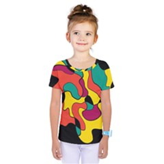Colorful Spot Kids  One Piece Tee