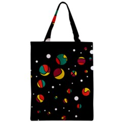 Colorful Dots Zipper Classic Tote Bag by Valentinaart
