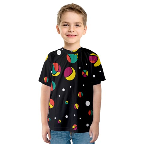 Colorful Dots Kids  Sport Mesh Tee by Valentinaart