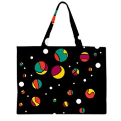 Colorful Dots Zipper Large Tote Bag by Valentinaart
