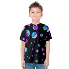 Blue And Purple Dots Kids  Cotton Tee