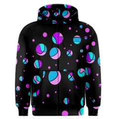 Blue And Purple Dots Men s Zipper Hoodie
