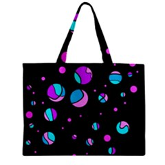 Blue And Purple Dots Zipper Mini Tote Bag by Valentinaart