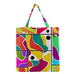 Colorful Windows  Grocery Tote Bag by Valentinaart