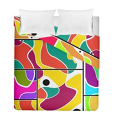 Colorful Windows  Duvet Cover Double Side (full/ Double Size) by Valentinaart