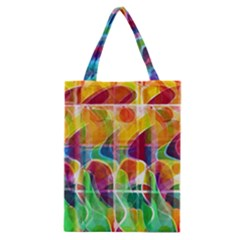 Abstract Sunrise Classic Tote Bag by Valentinaart