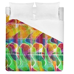 Abstract Sunrise Duvet Cover (queen Size) by Valentinaart