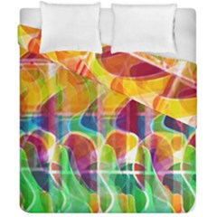 Abstract Sunrise Duvet Cover Double Side (california King Size) by Valentinaart
