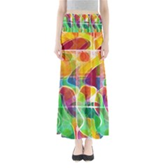 Abstract Sunrise Maxi Skirts by Valentinaart