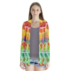 Abstract Sunrise Cardigans