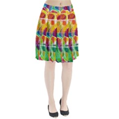 Abstract Sunrise Pleated Skirt