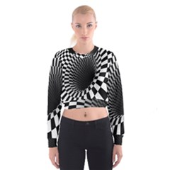 Optical Illusions Women s Cropped Sweatshirt