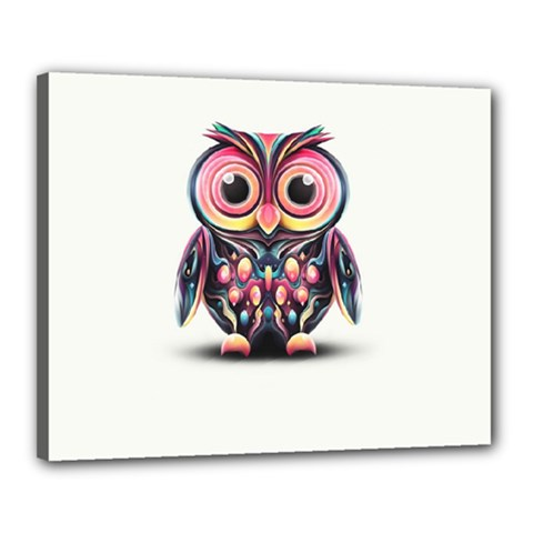 Owl Colorful Canvas 20  X 16