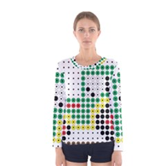 Tractor Perler Bead Women s Long Sleeve Tee