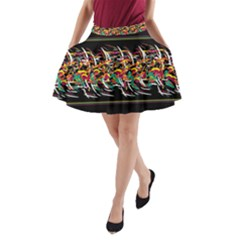 Colorful Barbwire  A Line Pocket Skirt by Valentinaart