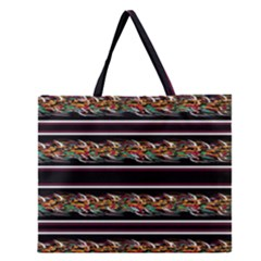 Colorful Barbwire Zipper Large Tote Bag by Valentinaart