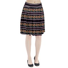 Colorful Barbwire Pleated Skirt