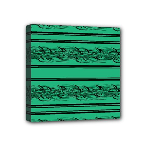 Green Barbwire Mini Canvas 4  X 4  by Valentinaart