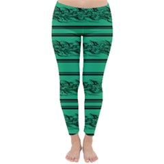 Green Barbwire Classic Winter Leggings by Valentinaart