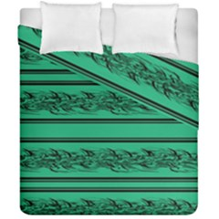 Green Barbwire Duvet Cover Double Side (california King Size) by Valentinaart