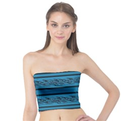 Blue Barbwire Tube Top