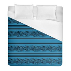 Blue Barbwire Duvet Cover (full/ Double Size) by Valentinaart